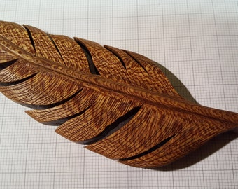Hand Carved Feather