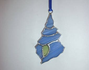 Stained glass Seashell suncatcher