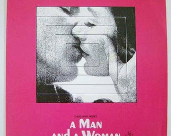 """A Man And A Woman """"Un Homme Et Une Femme""""  """"A Man And A Woman"""" Film From the Claude LeLouch, 1966 Motion Picture Movie, Music by Francis Lai"""