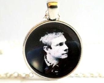John Watson Black and White Photo, Sherlock Holmes Necklace Pendant or Brooch Pin
