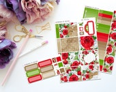 Roses are Red Personal Sized Weekly Kit -- Matte Planner Stickers