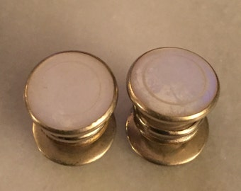 Vintage Men's snap mother of pearl cuff links