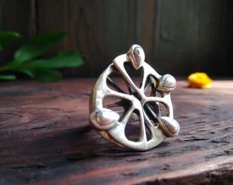 Lemon Ring Sterling Silver 925, Jewelery Statement Ring, Unusual Ring For her, Lemon jewelery,Lemon Silver Ring