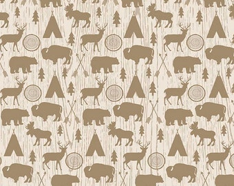 High Adventure - Main Fabric - Cream by Riley Blake Designs - Priced by the 1/2 Yard (Cut Continuous)