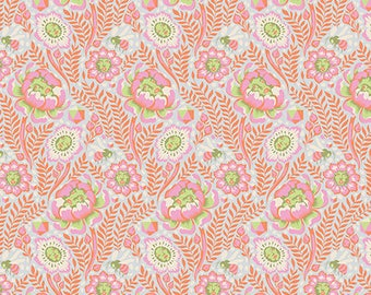 ON SALE! Tula Pink Spirit Animal Petal Heads Fabric - Starlet
