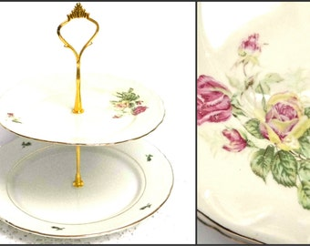 Tiered Cake Stand Old Moss Rose