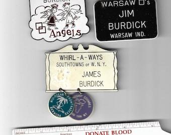 vintage square dance tags