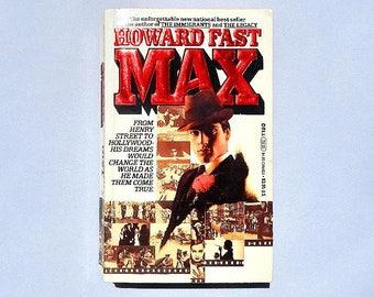 Max a Novel by Howard Fast Vintage Paperback Book