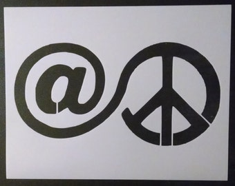 At Peace / Peace Sign Custom Stencil FAST FREE SHIPPING