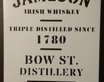 Jameson Irish Whiskey Dublin Custom Stencil FAST FREE SHIPPING