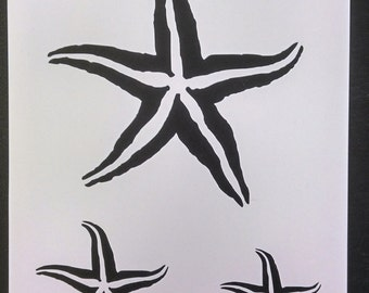 Starfish Star Fish Seashell Sea Shells Multiple Custom Stencil FAST FREE SHIPPING