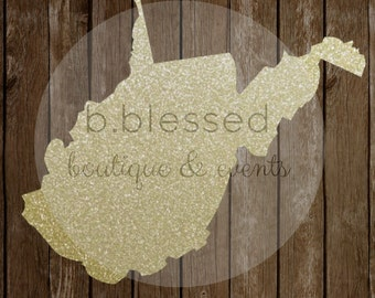 West Virginia Gold Glitter PNG