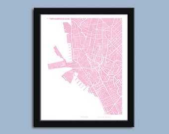 Manila map, Manila city map art, Manila wall art poster, Manila decorative map