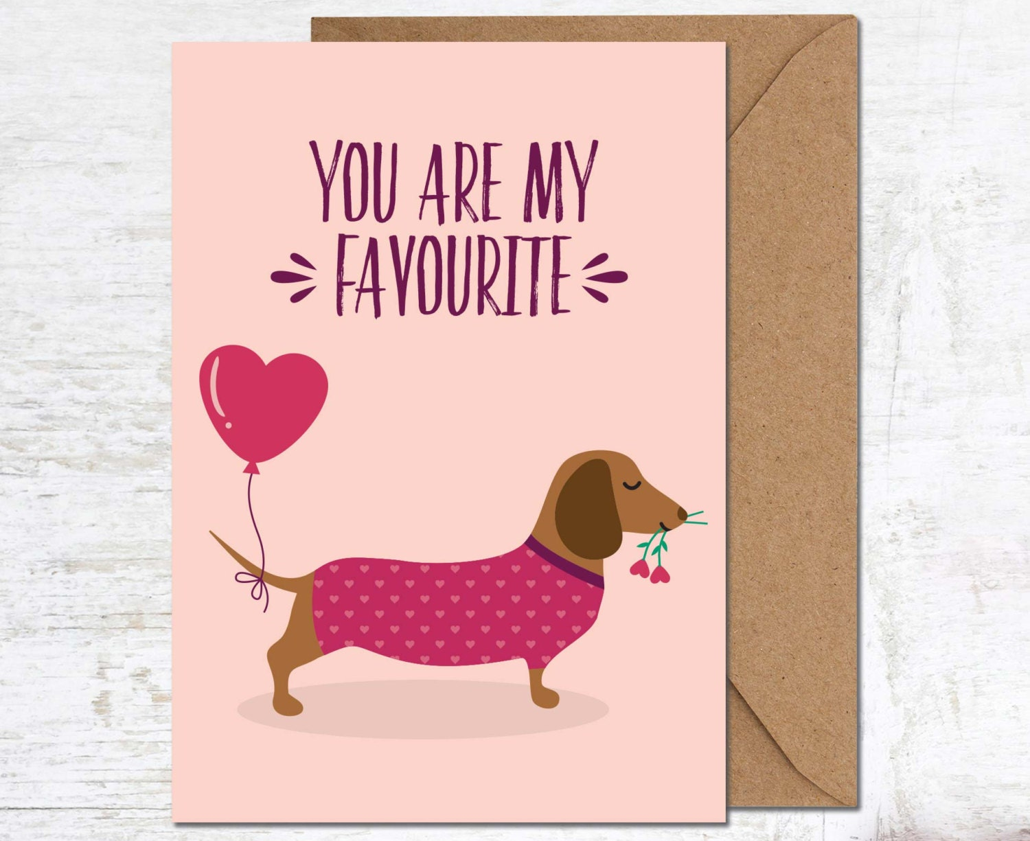 Cute dog love card – Birthday Card for Dog