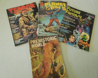 Vintage Comic Book Collection - 1970's Planet of the Apes Prehistoric World Terror Tales Future Fantasy  - Science Fiction Horror