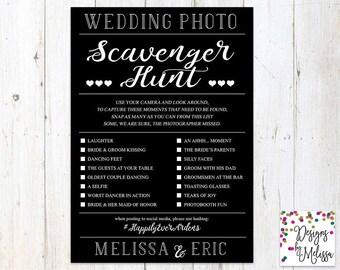 Wedding Photo Scavenger Hunt - Wedding Reception Game - Sacvenger Hunt - Wedding Reception Card - Wedding Photo Hunt - Wedding -DIGITAL FILE