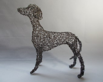 whippet wire sculpture