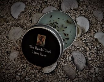 SPELL BALM, Anointing Balm, Ritual Balm, Potion, Elixir, Anointing Balm, Wicca, Witchcraft, Pagan, Hoodoo ~ The Beach Witch ~ 1/2 oz