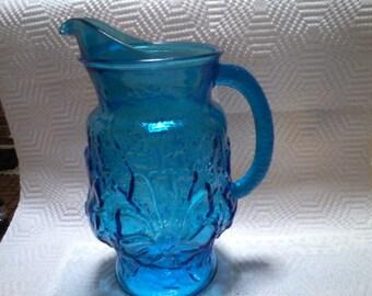 Vintage Glass Beverage Pitcher