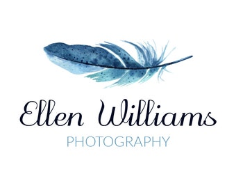 Watercolor Premade Logo Design | Photography Logo | Calligraphy Logo | Customized logo with your own name and tagline