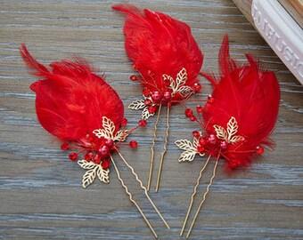 Bridal feather stick # HWW16009