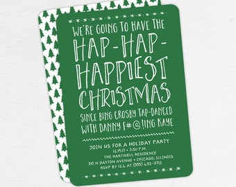 Adult Christmas Party Invitations, Funny Christmas Party Invitations, Christmas Vacation Party Invitations, Holiday Party Invitations, DIY
