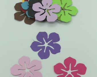 Exotic flower: lot of cut die - cut