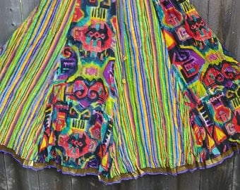 32. Colorful Boho Hippie Skirt