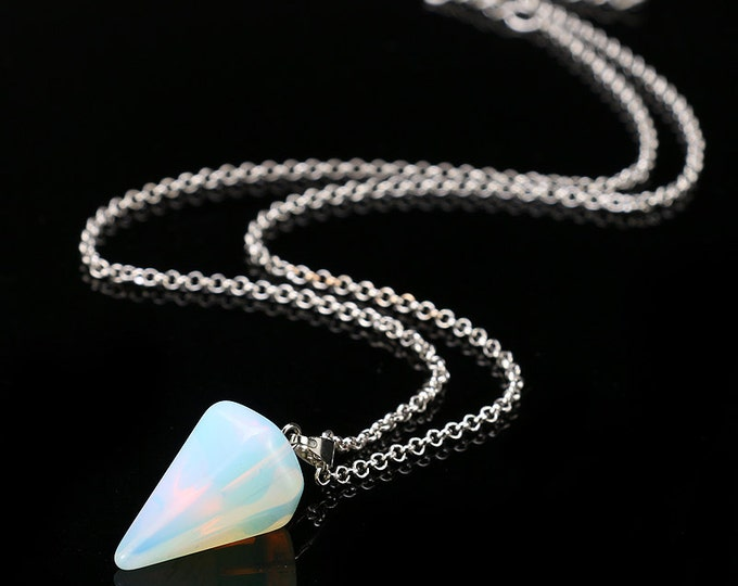 Moonstone Opal Pendulum Necklace Perfect Gift
