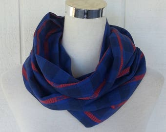 Infinity Scarf - Scarves - Accessories - Blue Scarf - Scarf - Loop Scarves -  Scarf - Upcycled Scarf