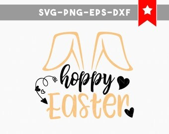 hoppy easter svg, easter svg, bunny svg, commercial use, easter bunny svg, svg files for silhouette, svg files for cricut, svg files easter