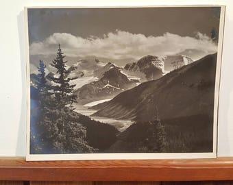 Antique Scenic Mountain Photo