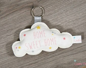 "Door key cloud ""Home Sweet Home"""