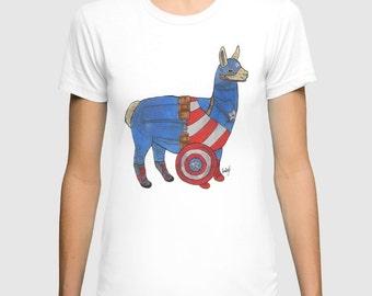 Captain America Llama shirt