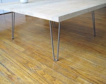 """Hairpin Table Legs 4""""/10 cm, 3/8″- 10 mm steel 2 Rod for writing table, computer desk, console table, dining table"""