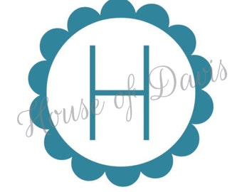 Vinyl Flower Monogram Decal