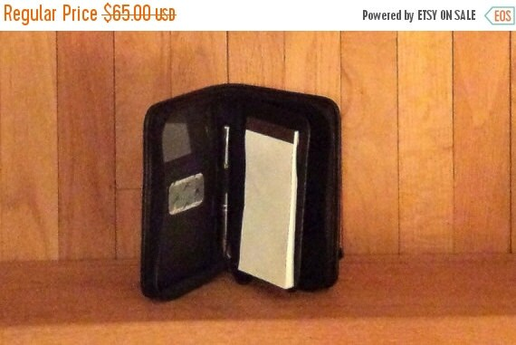 Football Days Sale Coach Black Leather Delux PDA Case Smart Phone Sized Digital Device Case- Excellent Used Condition