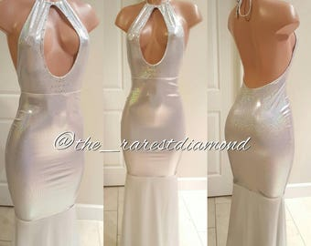 Custom halter mermaid gown