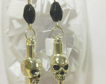 Spiked Skulls with Black Beads