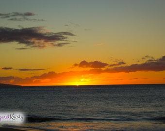 Hawaiian Sunset - beach tropical island photography