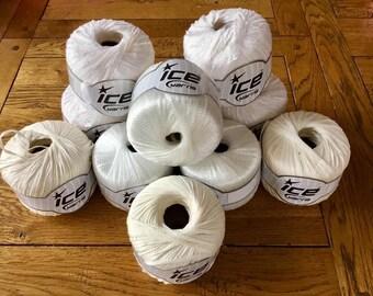Tape and Ribbon Yarn, Dreamcatcher Yarn, Ice Yarn, Ice Yarns, White Yarn