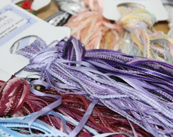 MUST HAVES - co-ordinating braid hanks for crafts, miniatures, hat decorating. 12 to 15 x 1m lengths of various braids, ribbons and trims.
