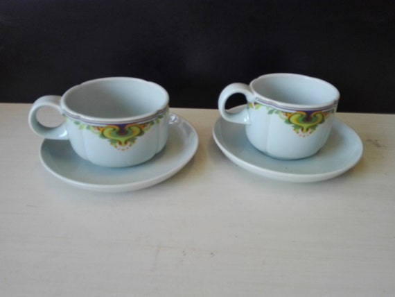 Set of two Rosenthal studio line cups and saucers