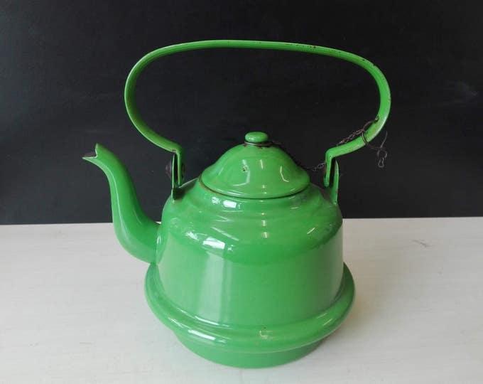 Green Enamel kettle