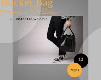 Leather Bucket Bag PDF Sewing Pattern