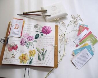 Cotton watercolor paper insert for regular/personal/fieldnotes size traveler's notebook Sennelier cotton paper