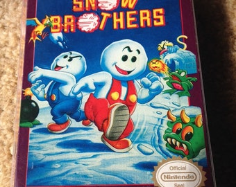 Nintendo NES Snow Brothers - CIB Complete - Reproduction