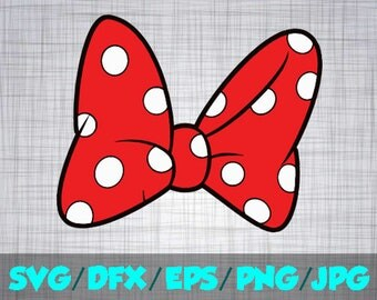 Minnie Mouse Bow Svg Etsy