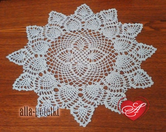 FREE SHIPPING,Doily, crochet centerpiece, cotton,white thread, home decor, tabletop decor, round, heirloom quality, mothers day