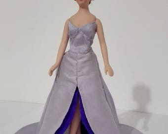 Doll with Evening dress, remove, 1:12 scale